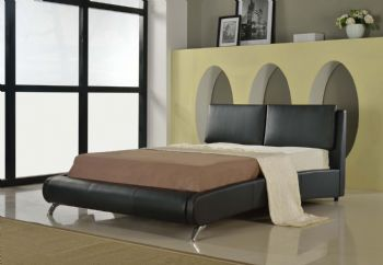 Italian Faux Leather Bed